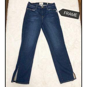 Frame Le High Split Hem Straight Jeans size 29